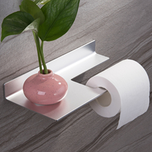 Aluminum Toilet Paper Holder Bathroom Clip Towel Wall Mounted Storage Platform 2019 Fashion Handle