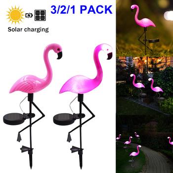 Waterproof Solar Garden Light Outdoor Decorative Flamingo Solar Light Solar Led Solar Powered Lawn Lamp energia solar Lights D30 1
