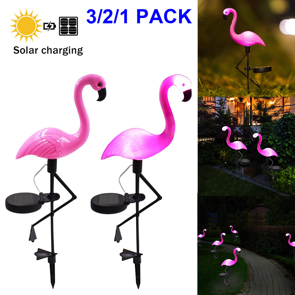 Waterproof Solar Garden Light Outdoor Decorative Flamingo Solar Light Solar Led Solar Powered Lawn Lamp energia solar Lights D30