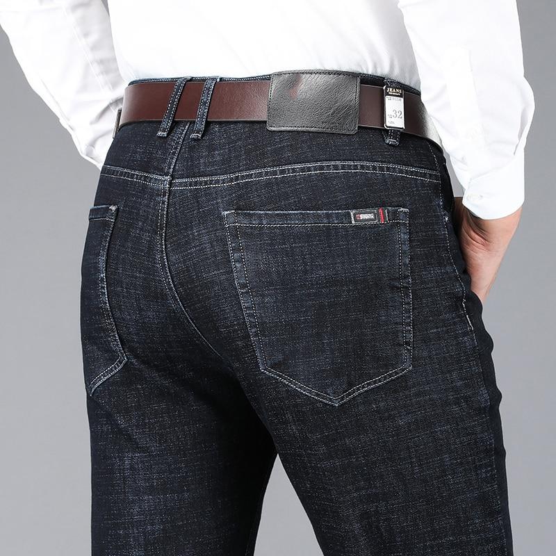 Jeans Homme Black Jean Spijkerbroeken Heren Baggy Slim Fit Denim Trousers High Quality Soft Business Casual Male Classic Biker