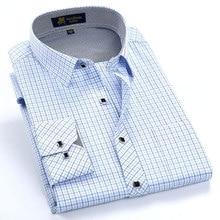 Dress Shirt Regular-Fit Long-Sleeve Business Plaid Smart Casual Checked Men's Fashion