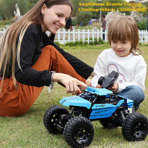 Amphibious Remote Control Car High Speed Buggy Climbing Rc Car 4WD 2.4G 1: 8 RC Drift Waterproof Radio-controlled Car kids toys