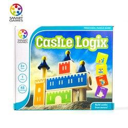 Belgia inteligentny gry dla dzieci gra planszowa zamek Logix elastyczne zamek zabawki edukacyjne gry 3 + na