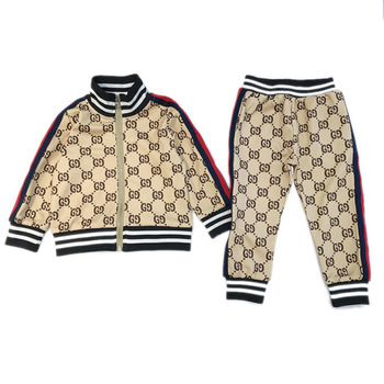 2Pcs Letter Print Side Stripes Sets 2021 New Children's Clothing Suits Boys And Girls' Sporty Casual Fashion Hoodie Kids Clothes