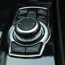 Couverture de boutons multimédia de rénovation intérieure, accessoires de voiture pour bmw X1 X3 X5 X6 F20 F30 316i 320i 325i 328i 330i GT 520I 523I 525I