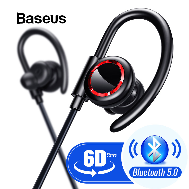 Baseus S17 Bluetooth 5.0 ecouteurs sans fil casque Bluetooth écouteur mains libres casque sport écouteurs casque de jeu téléphone