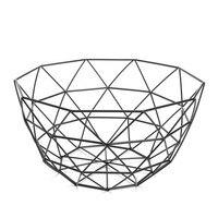 Nordic Style Fruit Basket Wire Decorated Metal Storage Basket Black Display Bowl Fruit Rack Vegetable Table Dining Decoration|Bags & Baskets| |  -