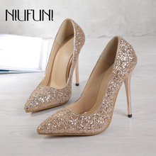 Plus Size Pointed Bling Women's Pumps Crystal Stiletto High Heels Elegant Pumps Mary Jane Banquet Office Wedding Women's Shoes cocoafoal woman silvery crystal pumps pointed toe stiletto sexy wedding pumps plus size 32 33 43 47 crystal high heels shoes