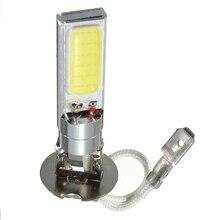 2 sztuk H3 DC12V COB samochodowe światło LED żarówki Super jasna biała reflektor żarówka lampy przeciwmgielnej źródło światła Parking 6000K