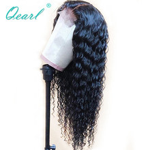 Water Wave Lace Front Human Hair Wigs Pre-plucked Hairline For Black Women 13x4 Glueless Wig Peruvian Remy Hair Qearl(China)