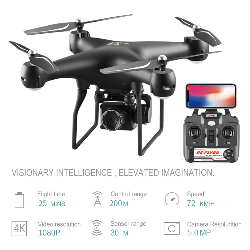 Unmanned Aerial Vehicle 4 K Aerial Photography Ultra-long Life Battery WiFi Image Transmission Four-axis Aircraft Toy Remote Con