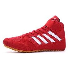 Мужская и женская борцовская обувь, легкие мужские спортивные тренировочные кроссовки, подошва, шнуровка, профессиональная обувь для пар, боксерская обувь