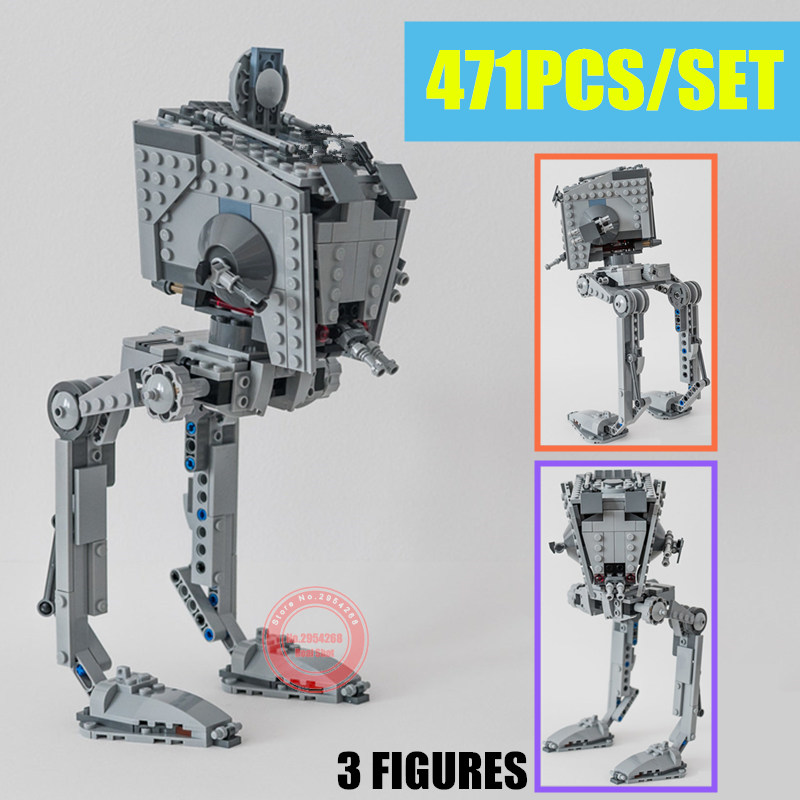 New Rogue One Imperial AT-ST Walker Fit Legoings Star Wars Figures Genuine Model Building Block Brick Toy Gift Kid Boy Birthday