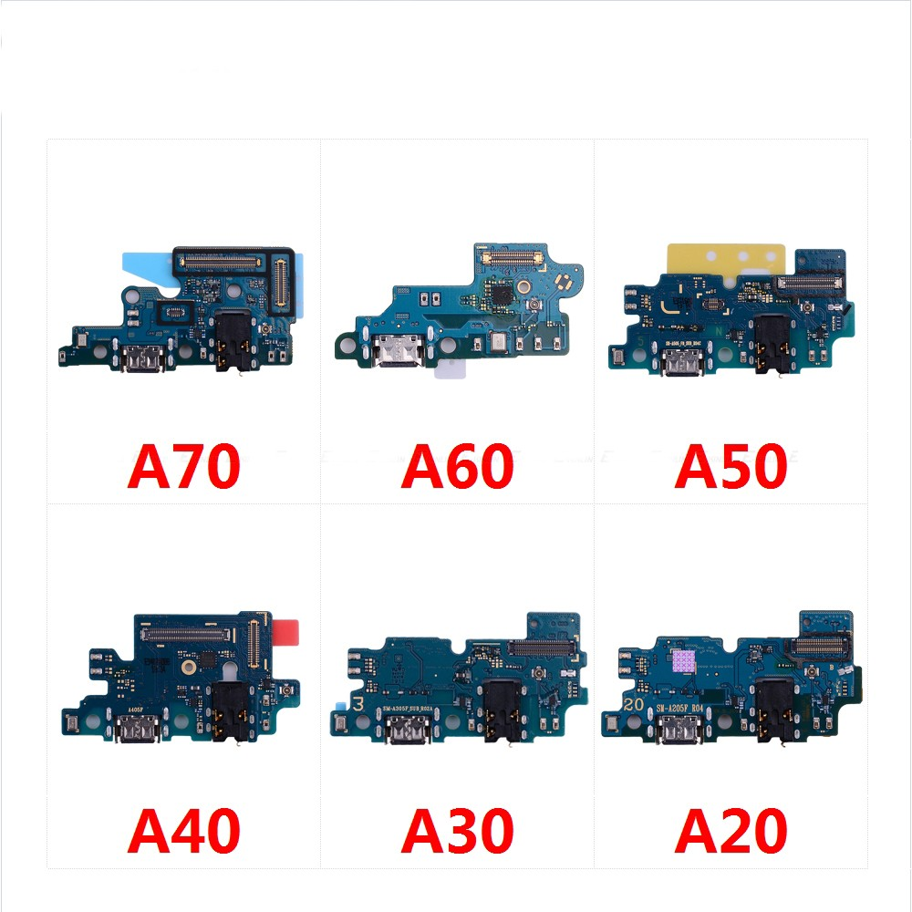 USB Charging Port Connector Board Parts Flex Cable With Microphone Mic For Samsung Galaxy A70 A60 A50 A40 A30 A20 A10