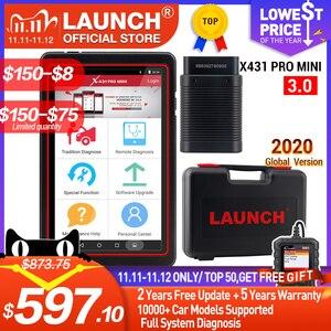 Image 1 - LAUNCH X431 Pro Mini v3.0 автомобильный диагностический инструмент WiFi/Bluetooth OBD2 полная система X 431 Pro Pros Мини Автомобильный сканер 2 года бесплатное обновление