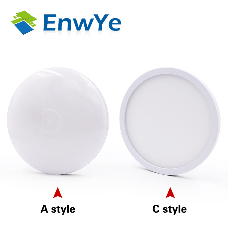 EnwYe 6W 9W 13W 18W 24W 36W 48W LED Round Panel Light Surface Mounted leds ceiling EnwYe 6W 9W 13W 18W 24W 36W 48W LED Round Panel Light Surface Mounted leds ceiling down 85-265V lampada led lamp