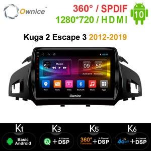 Image 1 - Ownice Android 10.0 2 Din 8 Xe DSP 4G LTE Đài Phát Thanh Nhạc GPS Navi DVD K3 K5 K6 dành Cho Xe Ford Kuga 2 Thoát 3 2012 2019 SPDIF Âm Thanh
