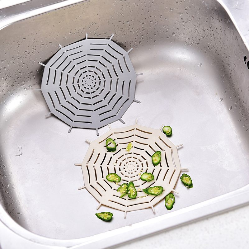 Spider Web Bathroom Sink Filter Strainer Anti-blocking Floor Drain Cover Kitchen Outfall Drain Cover Hair Catcher Stopper