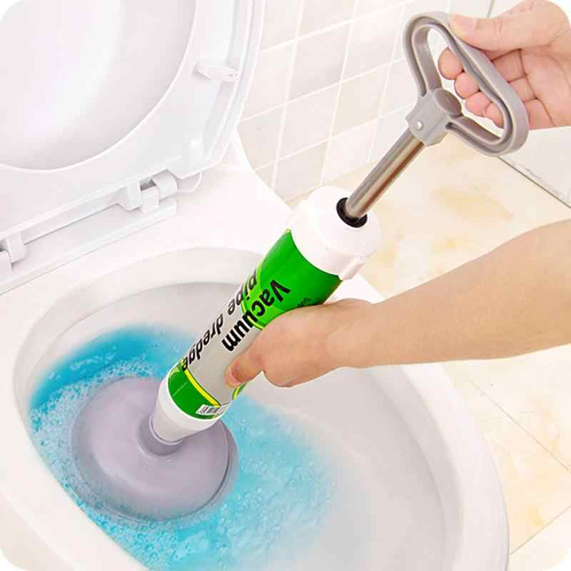 High-Pressure Manual Wastafel Plunger Pembuka Toilet Vakum Kamar Mandi Menyumbat Remover Vacuum Pipa Toilet Air Power Drain Blaster Cleaner