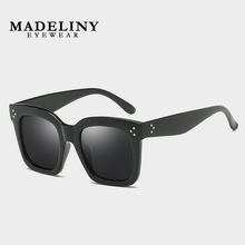 Fashion Sunglasses Shades-Eyewear Square Big-Frame Design Women Luxury Vintage Brand