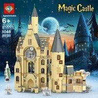 IN STOCK J10001 NEW 1048pcs Potter Movie Serices H Clock Tower Set Model Building Blocks Bricks Kids Toys Christmas gift 75948
