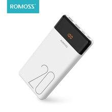 20000 мАч ROMOSS LT20 внешний аккумулятор с двумя usb-портами внешний аккумулятор с светодиодный дисплеем быстрое портативное зарядное устройство для телефонов Xiaomi