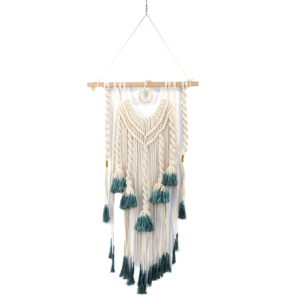 Macrame Wall Hanging Woven Tapestry Boho Tassels Pendant Hippie Wall Art Bedroom Living Room Backdrop Home Decorations