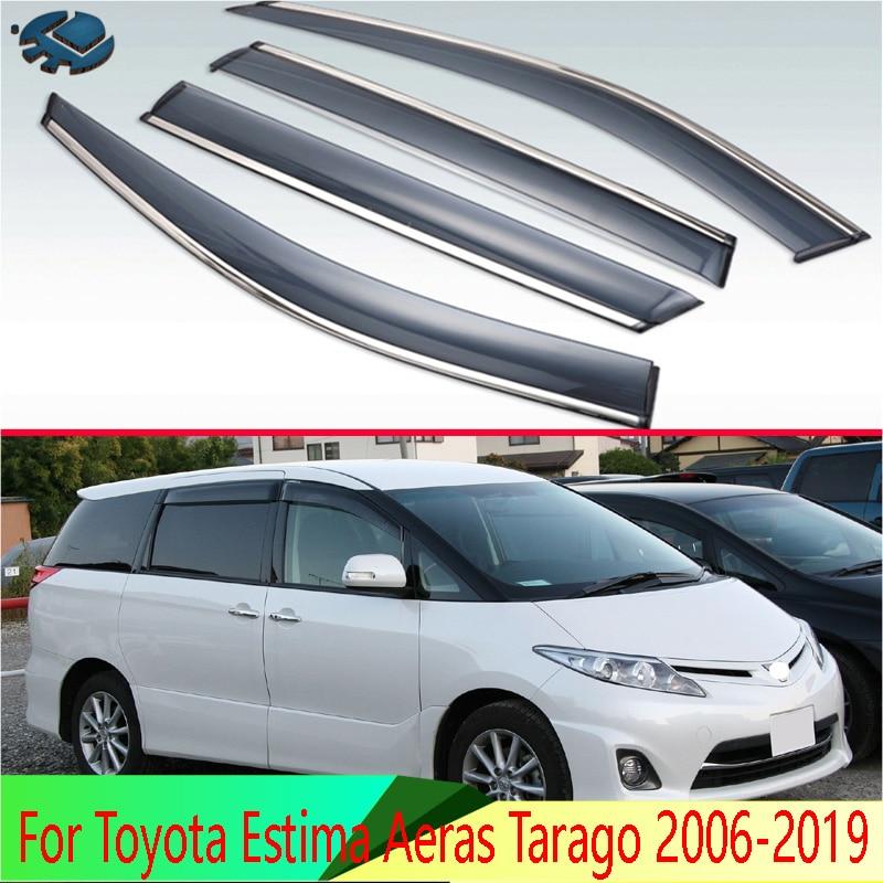 For Toyota Estima Aeras Tarago XR50 2006-2019 Car Accessories Plastic Exterior Visor Vent Shades Window Sun Rain Guard Deflector