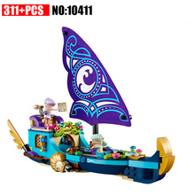10411 Building Block Compatible with Elves Ship 41073 DIY Bricks Educational Toy for Children lepin 16030 movie series the hogwarts castle 1340pcs creative building block bricks compatible 4842 educational toy for children