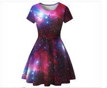 Summer Dress Autumn Digital Print Womens Dresses Slim Wild Women S-XL Loose O-Neck Christmas For Fashion