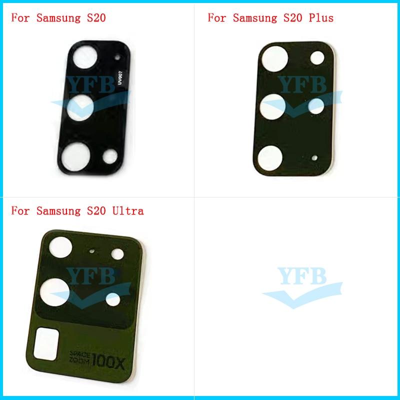 Стеклянные линзы для задней камеры Samsung Galaxy S20 S20 Plus S20, 2 шт., с клейкими запасными частями