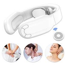 Masseur de cou télécommandé avec chaleur cou sans fil multifonctionnel infrarouge physiothérapie Massage soins de santé soulagement de la douleur