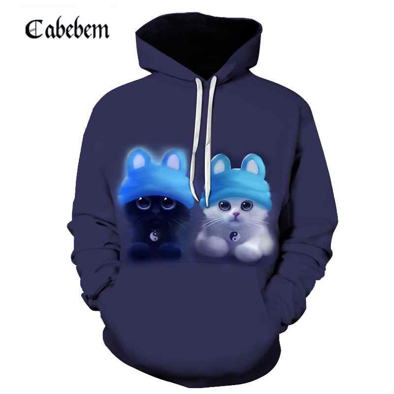 2019 new fall men's hoodie 3d-printed animation sweatshirt pullover Japanese animated print pullover men's casual sportswear