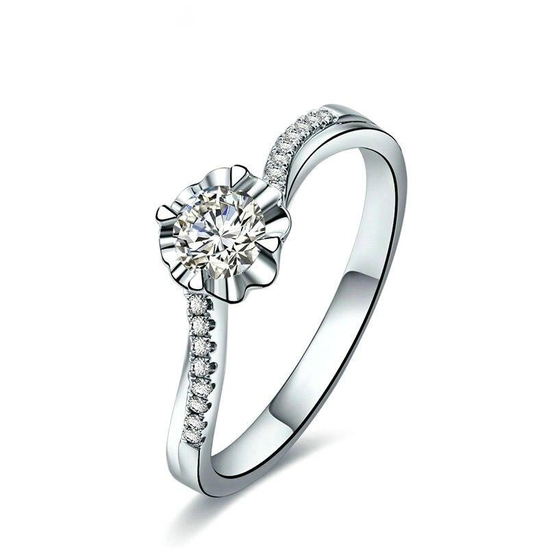 Bague en or 18K pour femmes en or K bijoux en diamant naturel bijoux de mariage et de fiançailles pour dame cadeau pour fille proposition