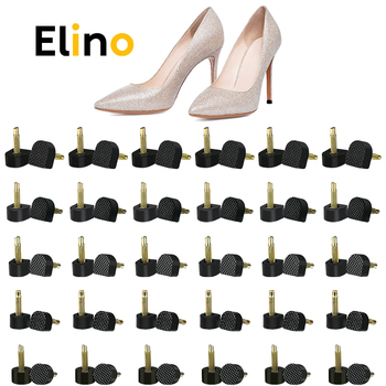 Elino 30 Pairs/Set High Heel Replacement Tips Pins Heel Stoppers Protector Dowel Lifts Stiletto Repair Tools Lady High Heel Tips 3 pairs high heel protector suit latin american dances stiletto dance shoe cover against sliding heel protective plugs noiseless