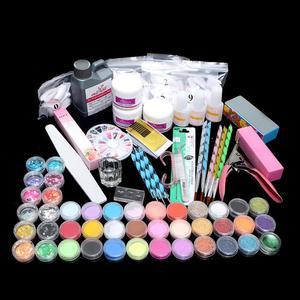 Mode brosse ongles beauté poudre paillettes Art bricolage manucure pince à épiler outils Kit pour manucure Nail Art Gel vernis à ongles Kit