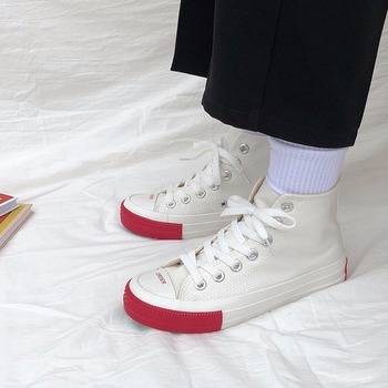 Zapatillas de lona para mujer, zapatillas de lona informales a la moda...