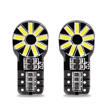 FISHBERG 2 PCS Canbus T10 LED W5W Car LED Auto Lamp Light Bulbs 4014 SMD Light 12V For Ford Focus Fiesta Mondeo Ecosport Kuga image