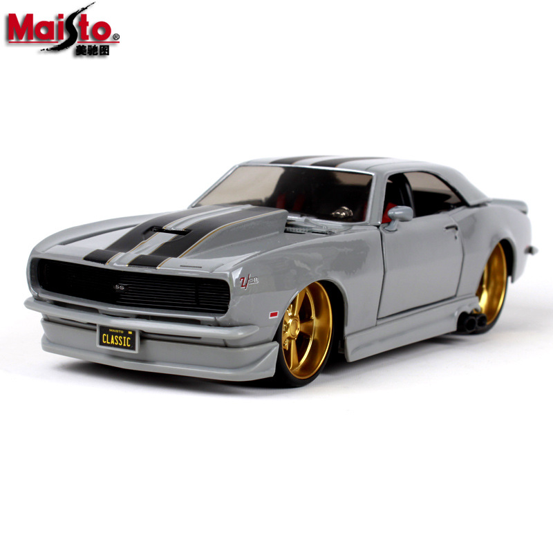 Maisto 1:24 1968 Chevrolet Camaro Z28 Alloy car model die-casting simulation decoration collection gift toy
