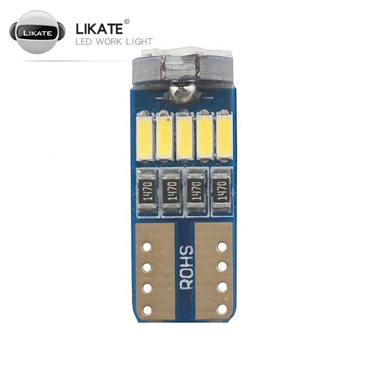 ЛКТ 10 шт. супер яркий T10 светодиодный 4014 15SMD с can-bus светодиодный Ширина светильник для автомобиля без полярности автомобильные лампы накалив...
