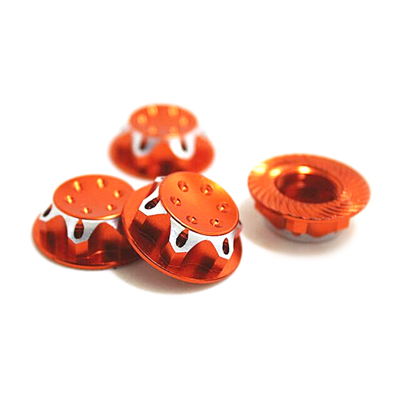 4PCS 17MM Dust Lock Nut Adapter For 1/8 Buggy/Truck WHEEL RC HPI LOSI HB AE MUGEN TEAM C(China)