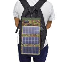 RG 7W Sun Light Solar Cells Charger 5V 1A USB Output Devices Portable Solar Panels for Smartphones Laptop Tablets Outdoor цена и фото