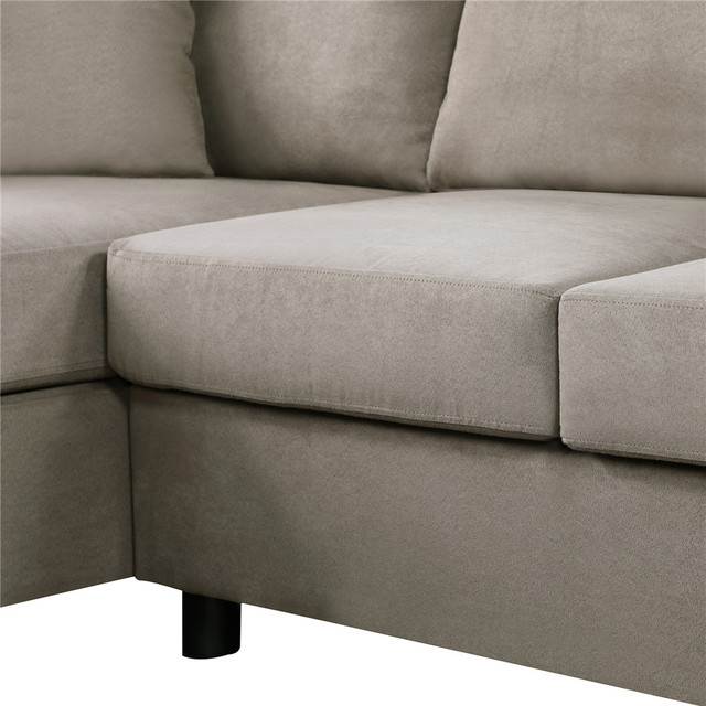 Nordic L Shaped Sectional Sofa Couch  5