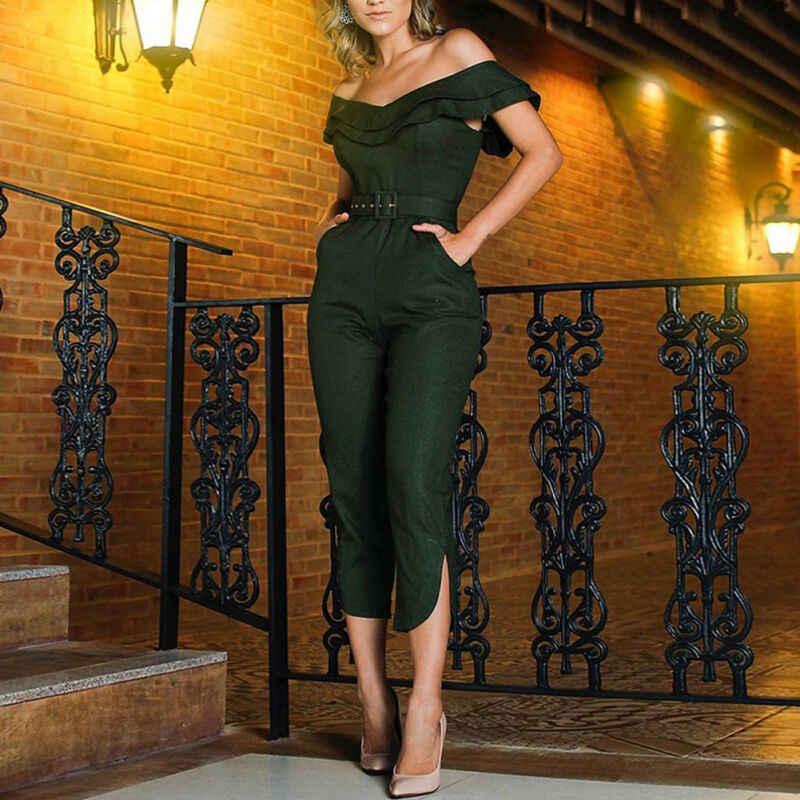 Sommer Frauen Damen Clubwear Overall Bodycon Party Jumpsuit Hosen Neue