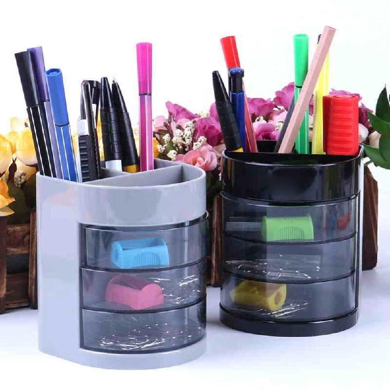Vividcraft Desk Accessories Pencil Holder Colorful Organizer Multi-function Desk Supplies Caneta For Office Pen Stand O8R0