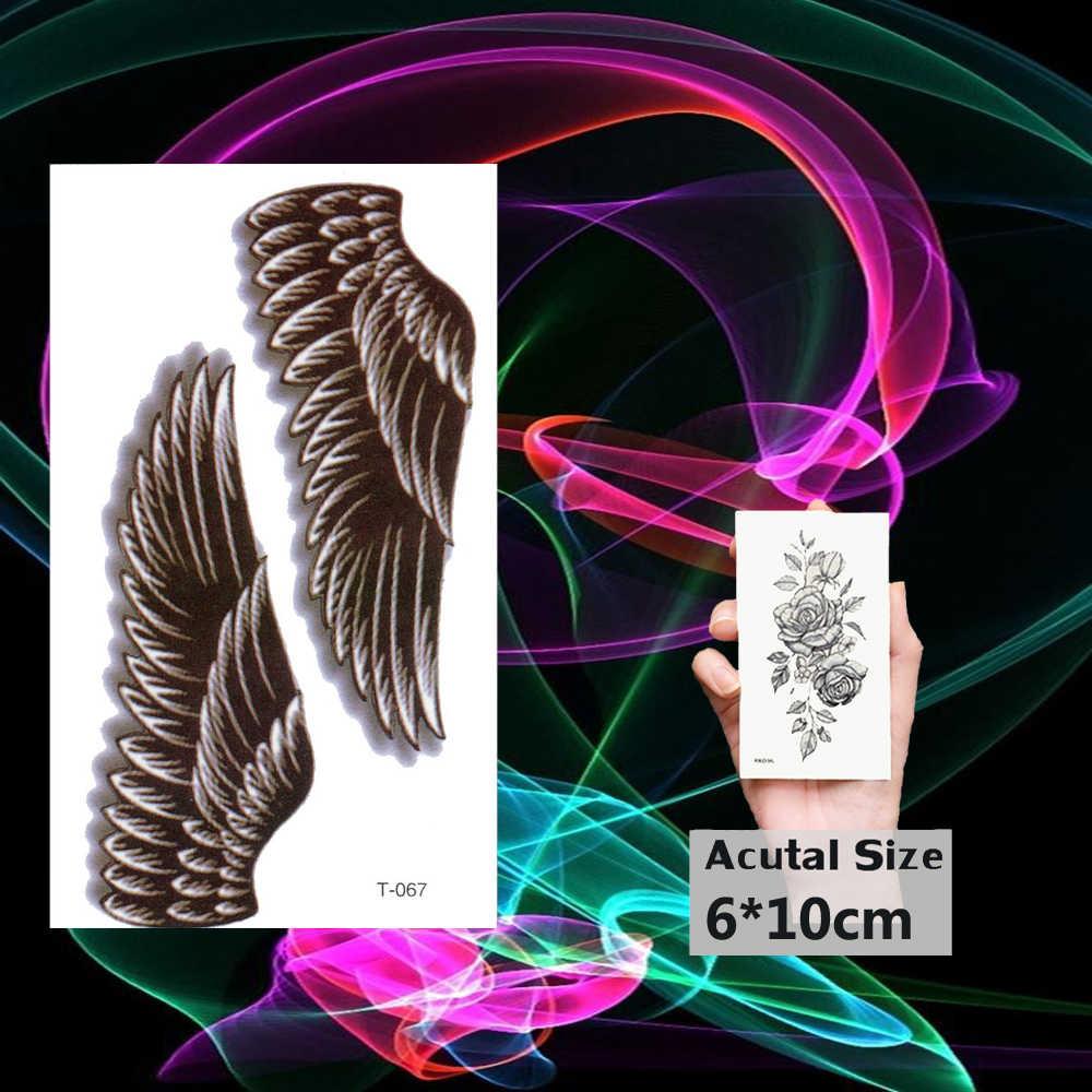 防水タトゥー天使の翼入れ墨のステッカー偽タトゥー女性男性ガールボディアームハンド脚アートフラッシュタトゥー Tatouage