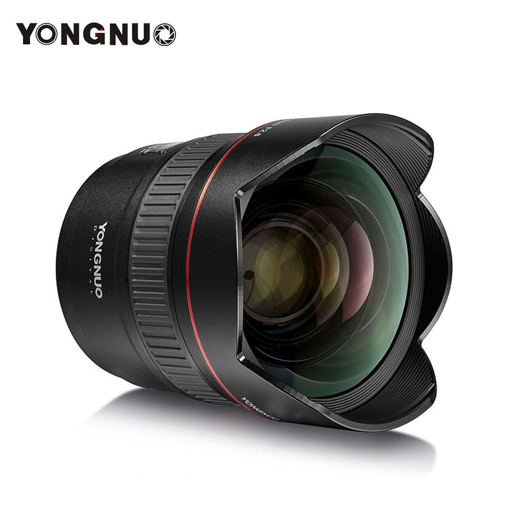 YONGNUO Ultra-grand Angle objectif Prime YN14mm F2.8N monture en métal à mise au point automatique pour Nikon D7100 D5300 pour Canon 700D 80D 5D appareils photo reflex numériques