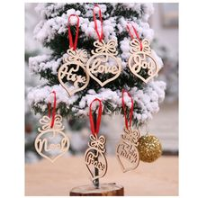Christmas Decorations Wooden Hollow Ornaments Christmas Tree Pendants 6 Pieces Home Garden Festive Party Supplies