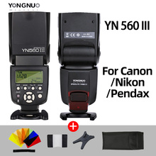 YONGNUO YN560III YN560 III YN560 III Sem Fio Flash Speedlite flash Para Canon Nikon Olympus Panasonic Pentax Câmera