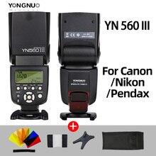 YONGNUO YN560III YN560 III YN560 IIIแฟลชไร้สายSpeedlite SpeedlightสำหรับCanon Nikon Olympus Panasonicกล้องPentax
